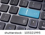 concepts of computer system errors or warnings, with an exclamation mark on it. - stock photo