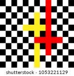 to believe or not to believe ... | Shutterstock .eps vector #1053221129
