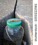 Small photo of Shrimp fishing bait on air pump container.