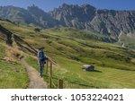 alpe di siusi plateau ... | Shutterstock . vector #1053224021