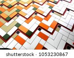 on the wall of multi colored... | Shutterstock . vector #1053230867