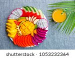 Tropical Fruits Assortment On ...