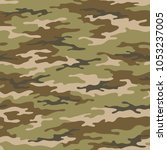 seamless camouflage pattern.... | Shutterstock .eps vector #1053237005