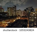 a view of the night city from... | Shutterstock . vector #1053243824