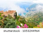 view on eze village on french... | Shutterstock . vector #1053244964