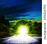 portal to eden. abstract... | Shutterstock . vector #105324791