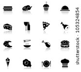 food icon set black  part 1 | Shutterstock .eps vector #105324854