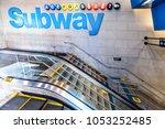 new york city  usa   october 28 ... | Shutterstock . vector #1053252485