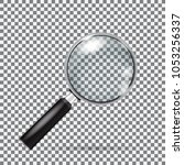 magnifying glass isolated with... | Shutterstock . vector #1053256337