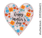 happy mother's day heart with... | Shutterstock .eps vector #1053266621