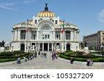 the fine arts palace palacio de ...   Shutterstock . vector #105327209