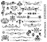 set of vector floral elements... | Shutterstock .eps vector #105328325