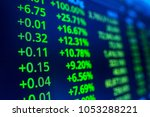 stock market graph analysis... | Shutterstock . vector #1053288221