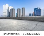 empty floor or square with... | Shutterstock . vector #1053293327