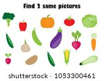 find two identical pictures ... | Shutterstock .eps vector #1053300461
