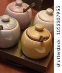 Small photo of Tray with aroma oils for spa treatment