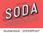 condensed display font popart... | Shutterstock .eps vector #1053309167