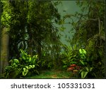 green jungle scenery   Shutterstock . vector #105331031