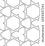 seamless geometric pattern with ... | Shutterstock .eps vector #1053337241