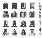 building icon set | Shutterstock .eps vector #1053344327