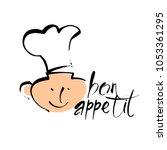 bon appetit graphic. vector... | Shutterstock .eps vector #1053361295