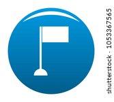 flag icon blue circle isolated...