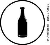 empty glass bottle symbol   Shutterstock .eps vector #1053372599