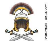 roman empire centurion helmet...   Shutterstock .eps vector #1053379094