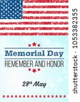 memorial day. remember and... | Shutterstock .eps vector #1053382355