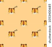 lion pattern seamless pattern... | Shutterstock .eps vector #1053400685