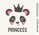 princess. panda with crown.... | Shutterstock .eps vector #1053402329