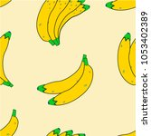 banana pattern seamless pattern ... | Shutterstock .eps vector #1053402389