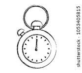 grunge pocket and hand watch... | Shutterstock .eps vector #1053405815
