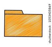 doodle file folder archive to...   Shutterstock .eps vector #1053405869