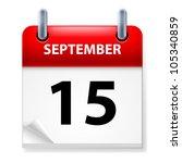 fifteenth september in calendar ...   Shutterstock .eps vector #105340859
