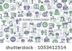 business management banner.... | Shutterstock .eps vector #1053412514