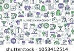 business management banner.... | Shutterstock .eps vector #1053412514