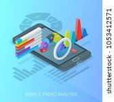 business trends analysis banner.... | Shutterstock .eps vector #1053412571