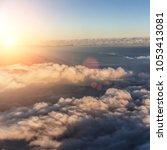 beautiful blue sky background   Shutterstock . vector #1053413081