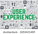user experience   hand drawn... | Shutterstock .eps vector #1053421409