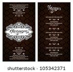 vector. restaurant menu design   Shutterstock .eps vector #105342371
