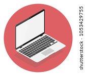 white laptop macbook pro mockup ... | Shutterstock .eps vector #1053429755