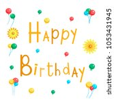 vector llustration of happy... | Shutterstock .eps vector #1053431945