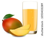 glass of refreshing delicious... | Shutterstock .eps vector #1053433289
