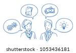modern business team  man and... | Shutterstock .eps vector #1053436181