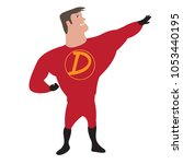 male superhero cartoon character | Shutterstock .eps vector #1053440195