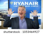 Small photo of BORYSPIL, UKRAINE - MARCH 23, 2018: Ryanair Chief Executive Officer Michael O'Leary poses for a photo during Ryanair Press-conference at Kyiv Boryspil Airport dedicated to Ukraine market entry