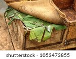 box of fermenting cacao beans... | Shutterstock . vector #1053473855