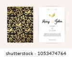vintage wedding invitation... | Shutterstock .eps vector #1053474764