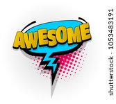 awesome hand drawn pictures... | Shutterstock .eps vector #1053483191